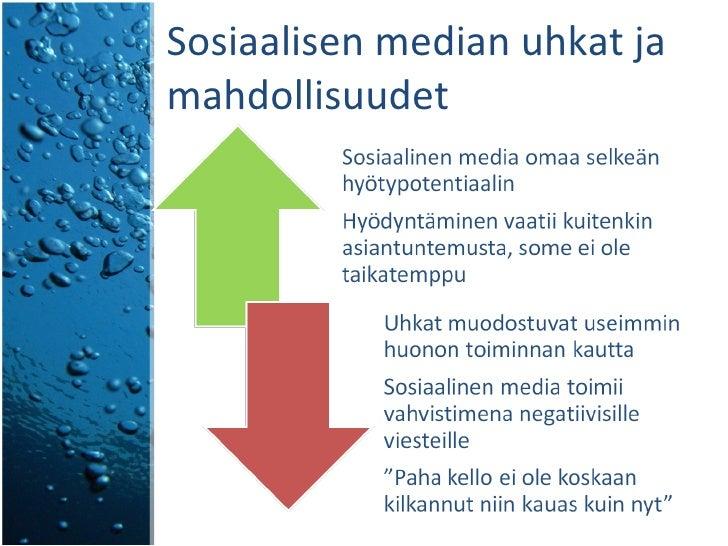 Sosiaalisen median uhkat ja mahdollisuudet