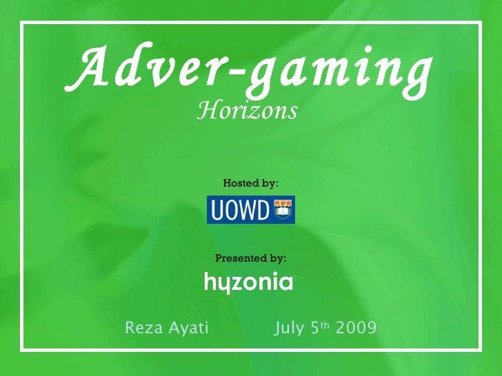 Adver-gaming                                              Horizons                                                      Ho...