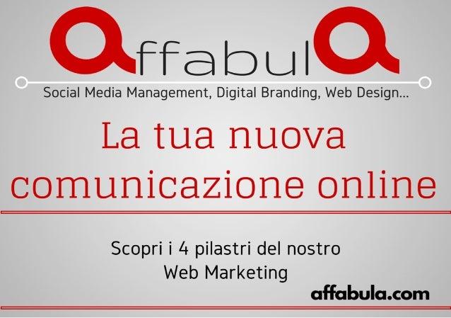 Qffabula  Social Media Management,  Digital Branding,  Web Design. ..  La tua nuova  comunicazione online  Scopri i 4 pila...
