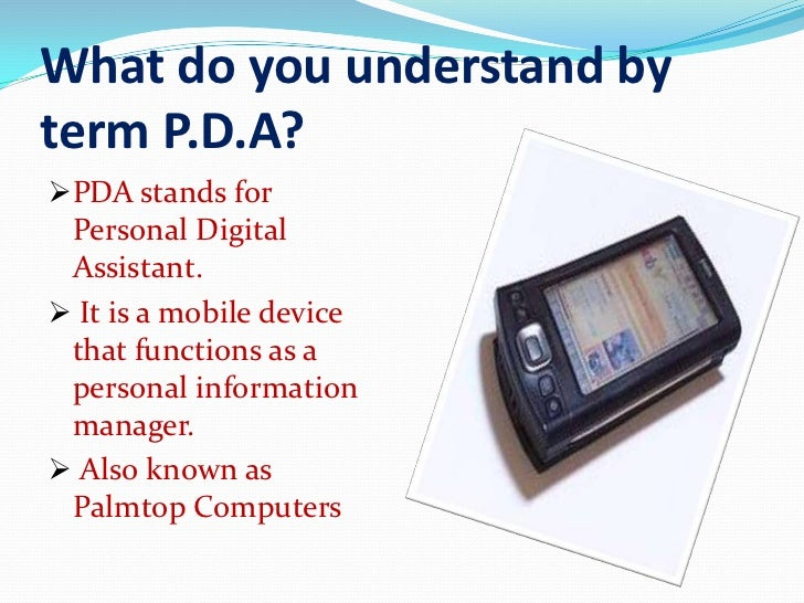 The full meaning of pda