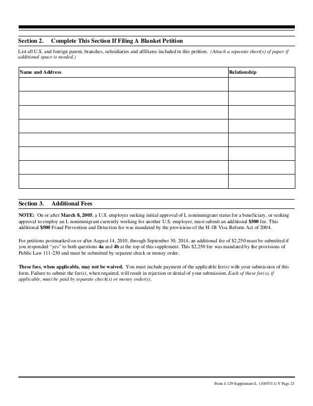 HB Visa Form I