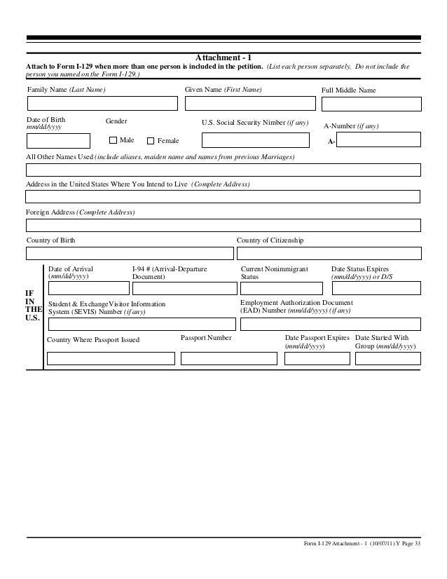 H 1b Visa Form I 129