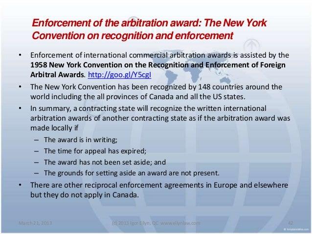 International Arbitration Award Writing