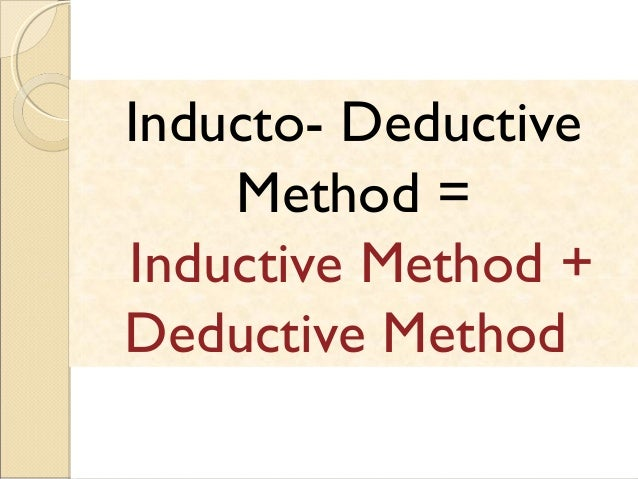 inductive method Informed by the scientific method, much research conducted today relies at least in part on inductive reasoning to generate and give evidence to theories about how the universe works.