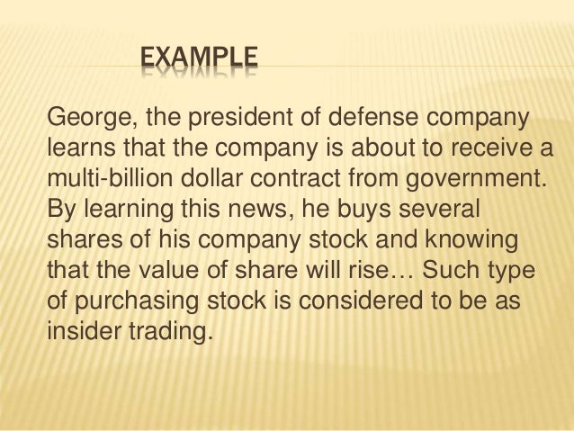 how does insider trading affect the company