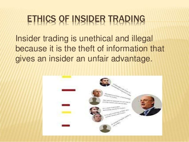 why is insider trading illegal pdf