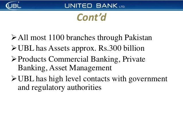 introduction of ubl bank
