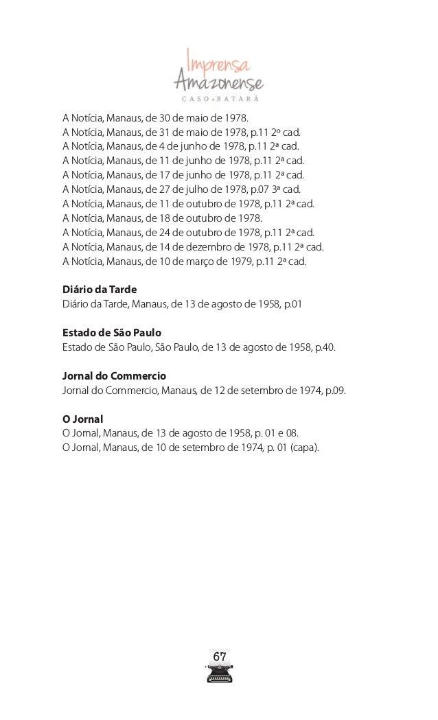 Imprensa Amazonense - Caso Batará