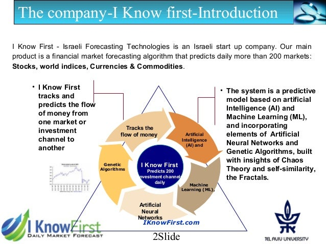 I Know First Presentation (February 2013) Slide 2