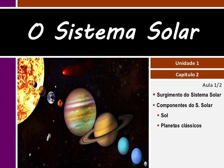 O Sistema Solar                    Unidade 1                    Capítulo 2                                   Aula 1/2     ...