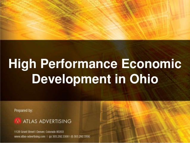 1High Performance EconomicDevelopment in Ohio