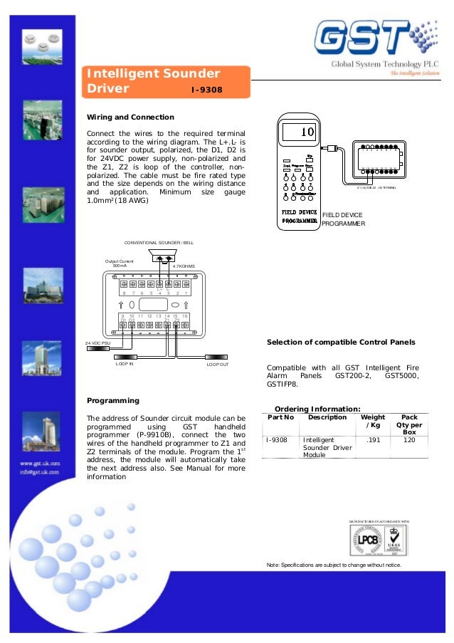 Gst Fire Alarm System Wiring Diagram
