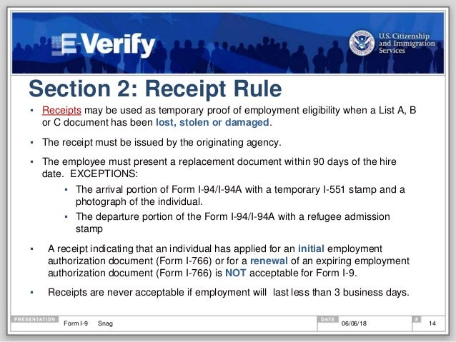 form i-9 3 day rule  Everything you need to know to complete the I-6 form