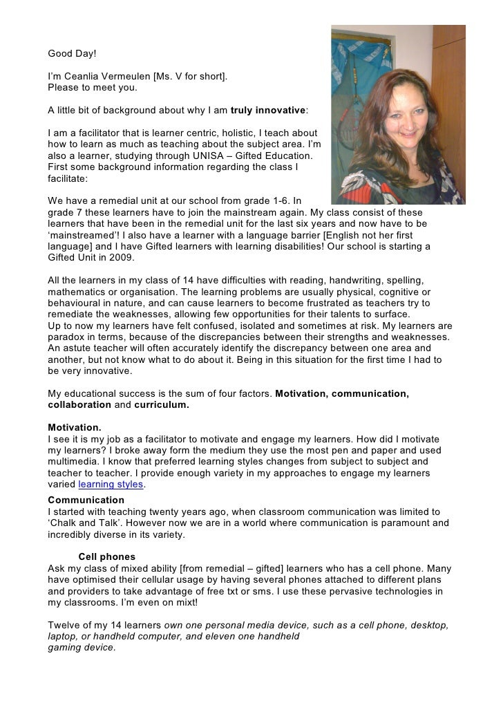Good Day!  I'm Ceanlia Vermeulen [Ms. V for short]. Please to meet you.  A little bit of background about why I am truly i...
