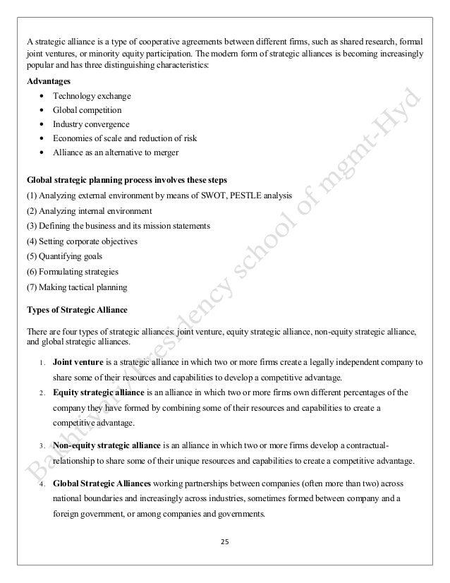 International business notes complete strategic alliance 24 25 stopboris Choice Image