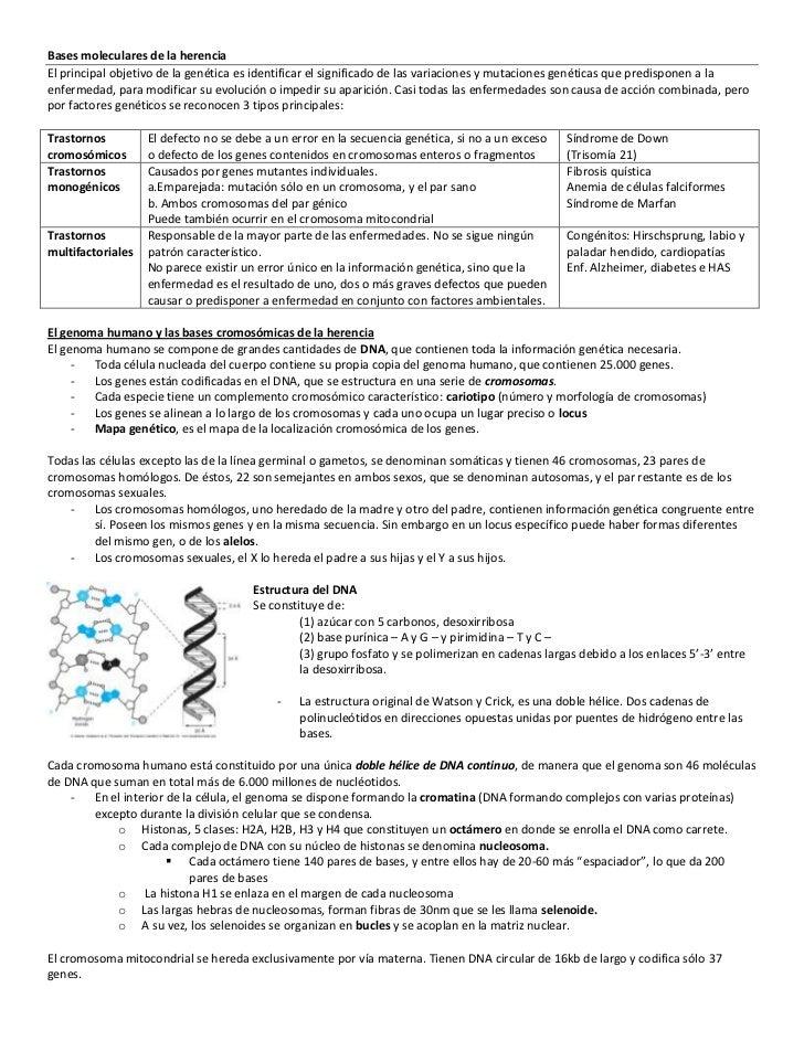 Bases moleculares de la herenciaEl principal objetivo de la genética es identificar el significado de las variaciones y mu...