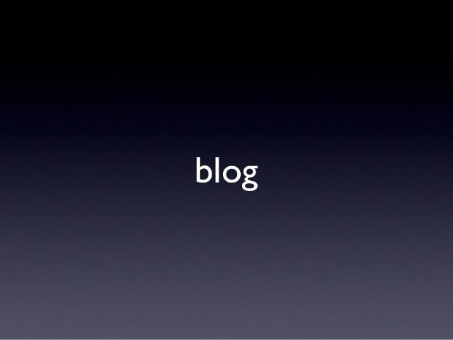 I blog e Wordpress