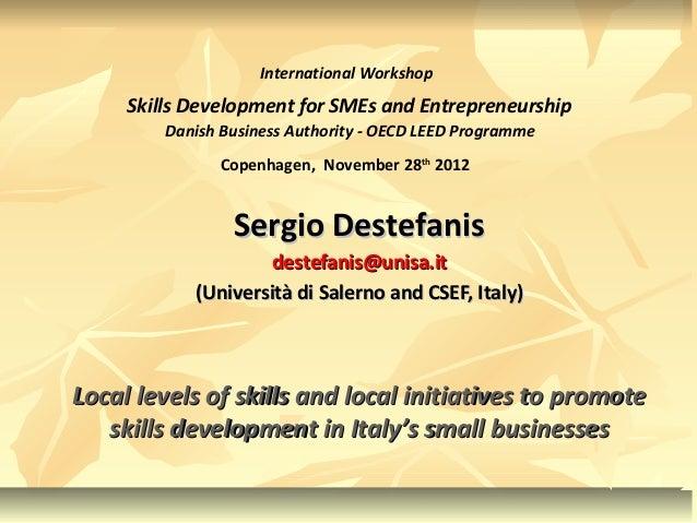 International Workshop     Skills Development for SMEs and Entrepreneurship         Danish Business Authority - OECD LEED ...