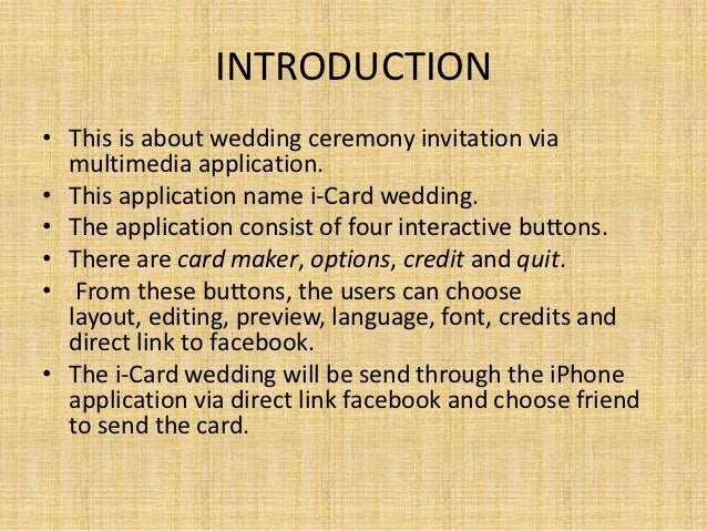I-card Wedding Invitation-multimedia Project