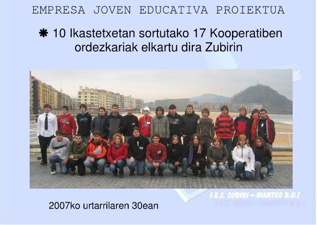 I Encuentro de la Red de Cooperativas EJE _ Euskadi