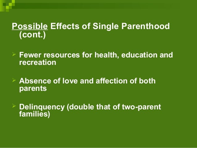 the single emotional poeffect The impetus for focusing on parenting is based on common sense and a large body of research demonstrating associations between parenting in early childhood and a number of later socio-emotional outcomes 1,2 even before formal research studies were initiated on the effects of early socialization practices in relation to children's later .