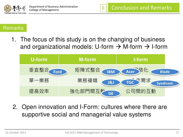 The I-Form Organization