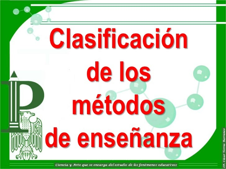 Clasificación    de los  métodosde enseñanza