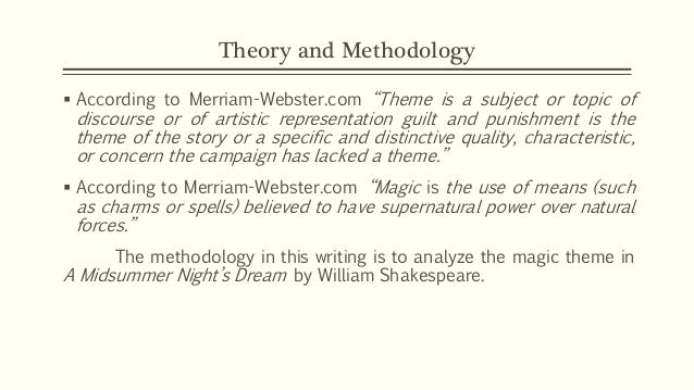 an analysis of the theme of a midsummer nights dream a play by william shakespeare A midsummer night's dream by william shakespeare home / literature / a midsummer night's dream / a midsummer night's dream analysis literary devices in a midsummer night's dream a midsummer night's dream is a classic example of shakespearean comedy.