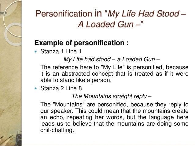 my life had stood a loaded gun poem pdf