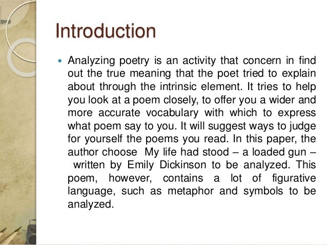 "an analysis of emily dickinsons Dickinson's poetry emily dickinson table of contents context analysis themes, motifs & symbols summary and analysis ""success is counted."