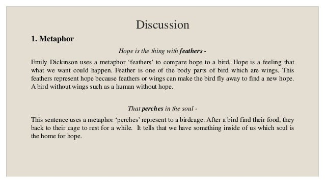 Figurative Language Metaphor And Diction Analysis In Hope Is The T