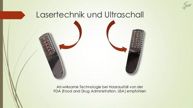 Lasertechnik und Ultraschall Als wirksame Technologie bei Haarausfall von der FDA (Food and Drug Administration, USA) empf...