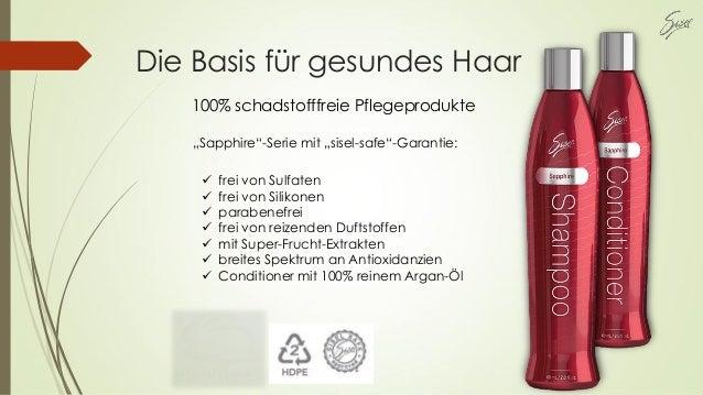 Die Basis für gesundes Haar 100% schadstofffreie Pflegeprodukte  frei von Sulfaten  frei von Silikonen  parabenefrei  ...