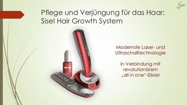 Pflege und Verjüngung für das Haar: Sisel Hair Growth System Modernste Laser- und Ultraschalltechnologie in Verbindung mit...