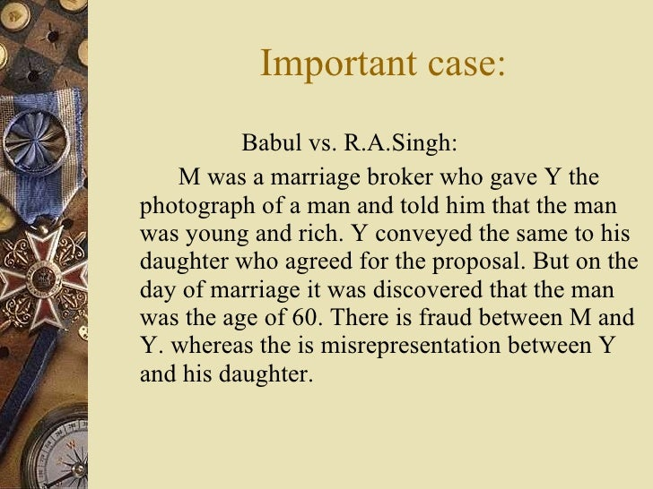 mistake vs misrepresentation Sing jls common mistake in contract law 459 price was dismissed because they could not reasonably have believed that the buyers' extravagant bid was for the.