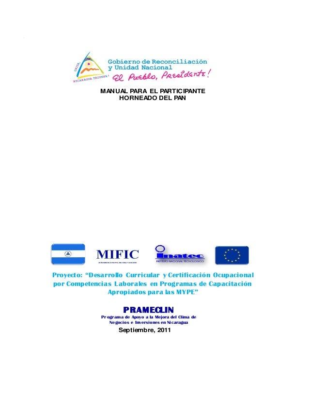 """PRAMECLINPrograma de Apoyo a la Mejora del Clima de Negocios e Inversiones en NicaraguaProyecto: """"Desarrollo Curricular y ..."""
