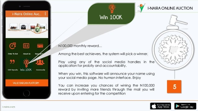 I naira online auction app