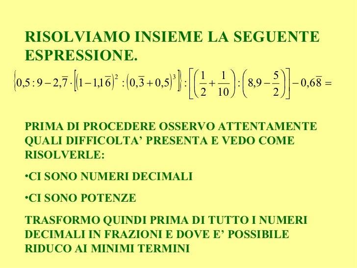 aiutoooooo come si risolvono le espressioni con numeri ...