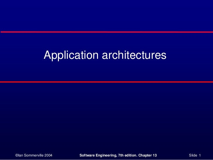 Application architectures<br />