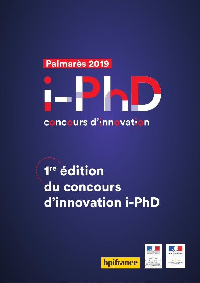 5 Palmarès 2019 1re édition du concours d'innovation i-PhD
