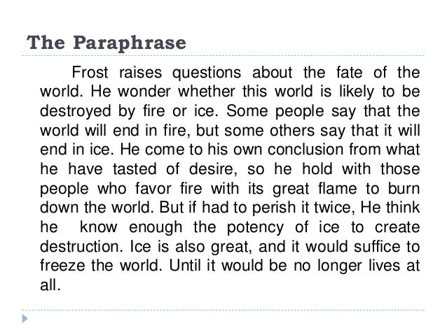 robert frost writing style analysis