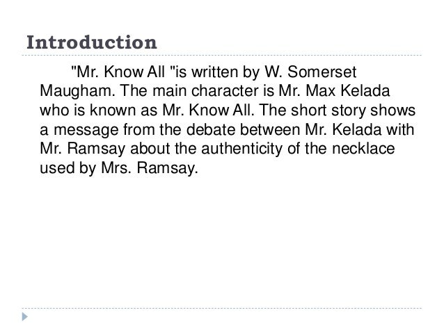 mr know all summary wikipedia