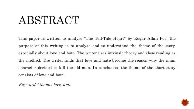 what is the theme for the tell tale heart
