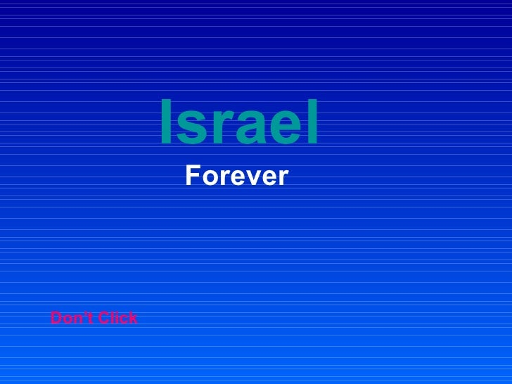 Israel   Forever Don't Click