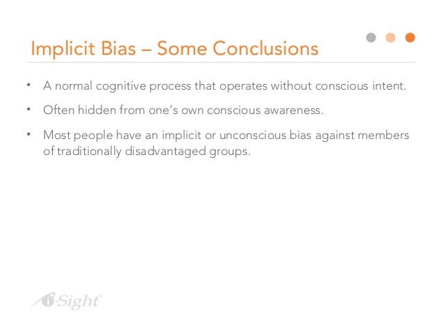 eliminating bias in investigations