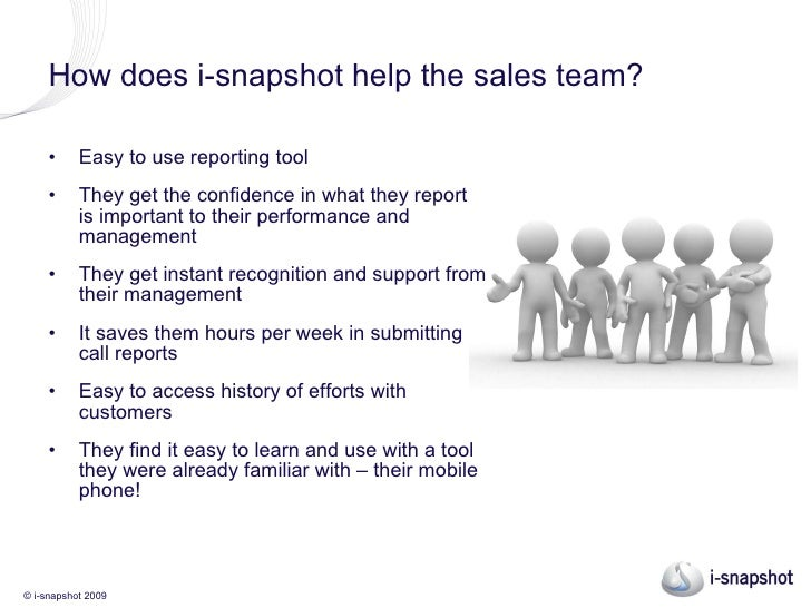 Driving field sales performance - i-snapshot