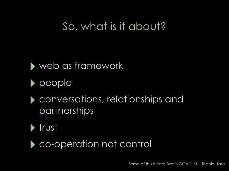 Web as framework