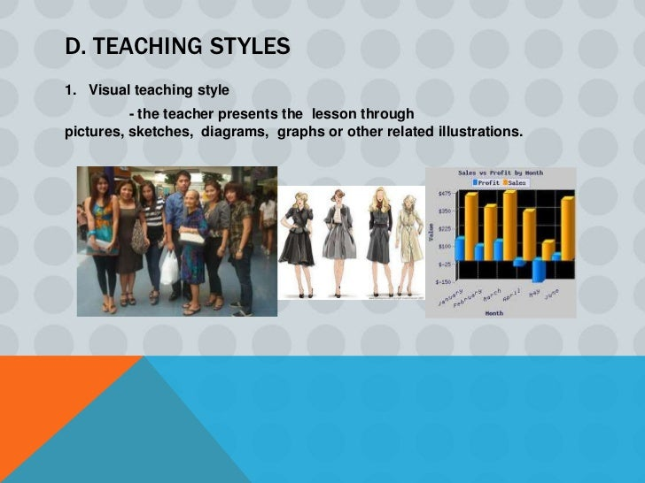 2. Auditory teaching style         - the teacher lectures and gives oral explanations most of thetime.