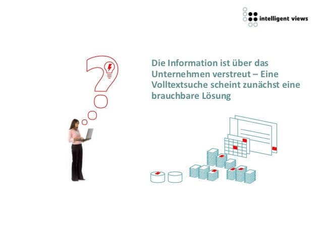 Die Information ist über dasUnternehmen verstreut – EineVolltextsuche scheint zunächst einebrauchbare Lösung