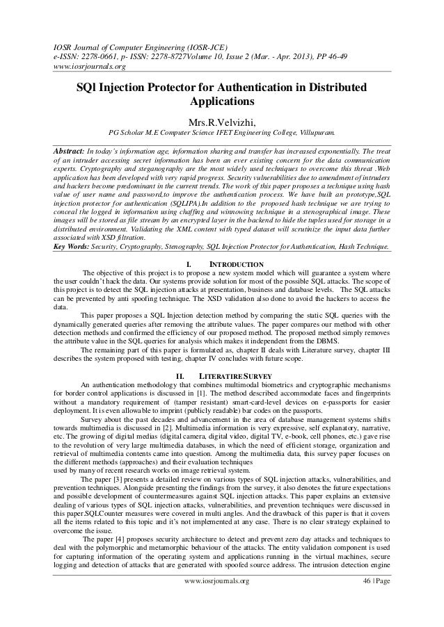 IOSR Journal of Computer Engineering (IOSR-JCE) e-ISSN: 2278-0661, p- ISSN: 2278-8727Volume 10, Issue 2 (Mar. - Apr. 2013)...